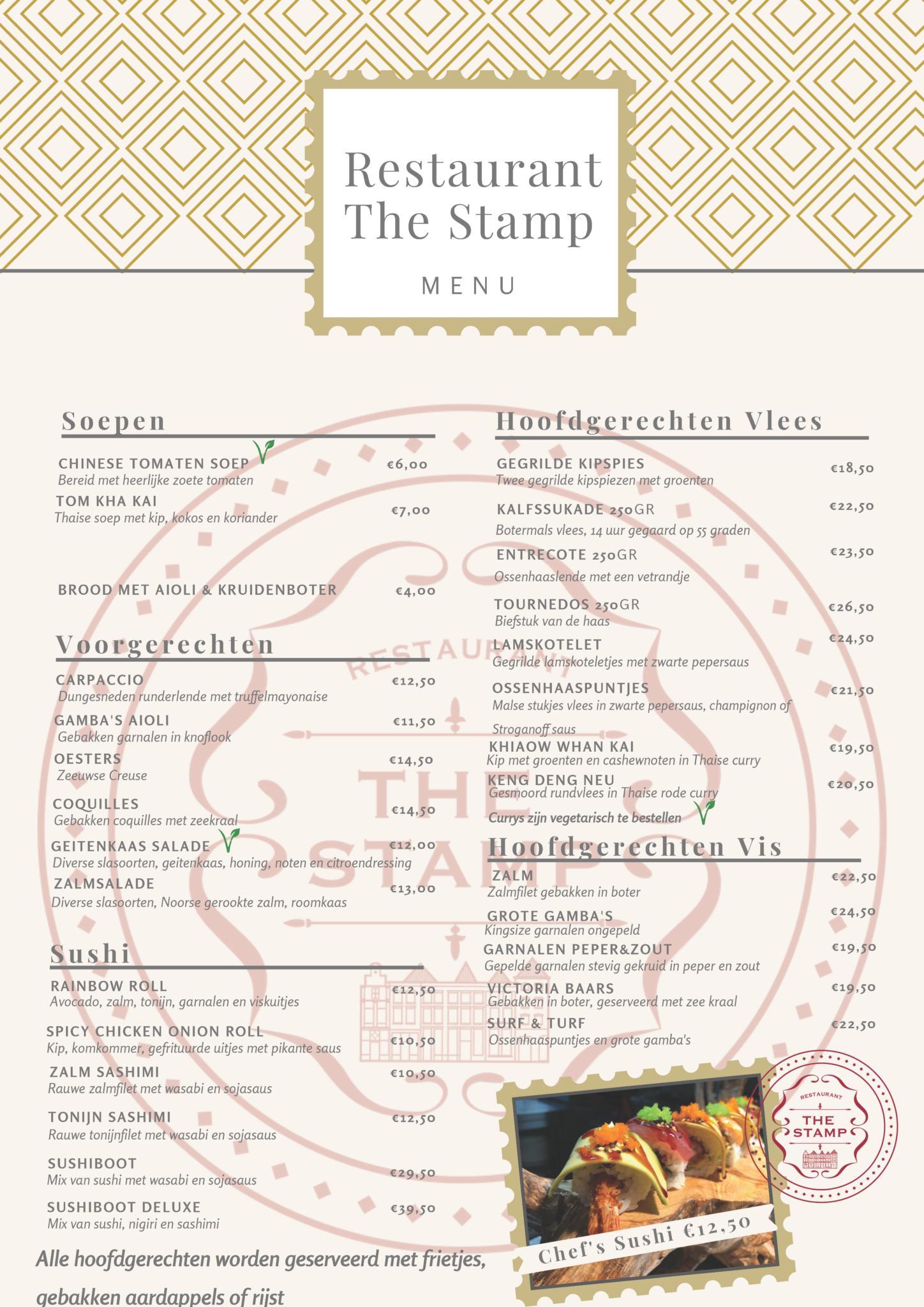 menu the stamp