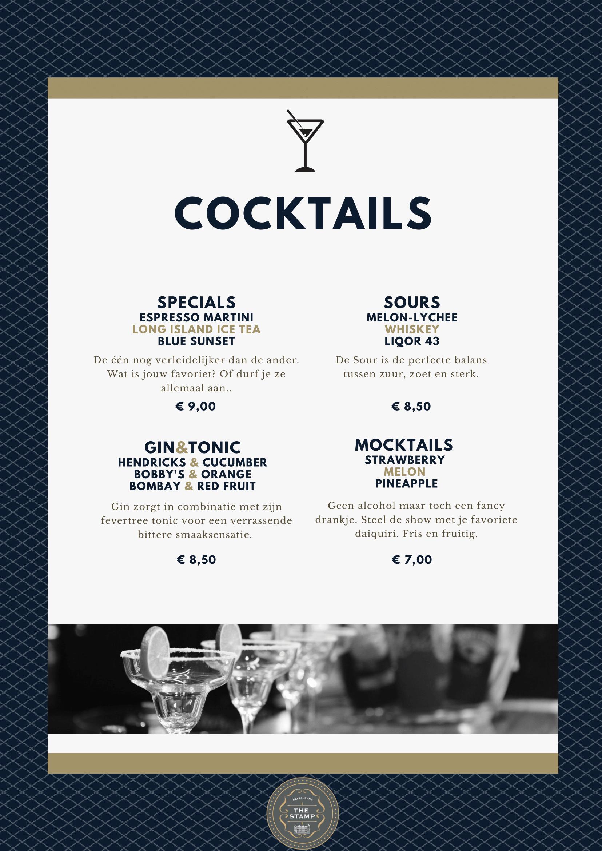 cocktail kaart
